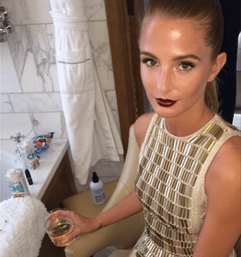 Millie Mackintosh steals the show at TV Baftas in golden gown and striking make-up