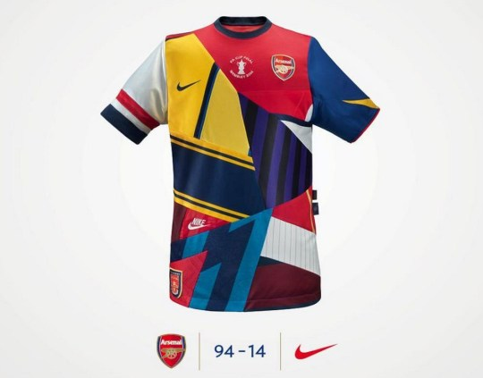 the latest c81ce 2c04b Would you buy an Arsenal mash-up kit? | Metro News
