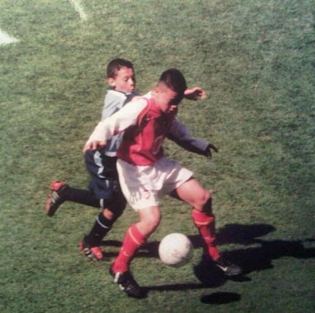 Alex Oxlade-Chamberlain played at Highbury when he was 11 (Picture: Instagram)