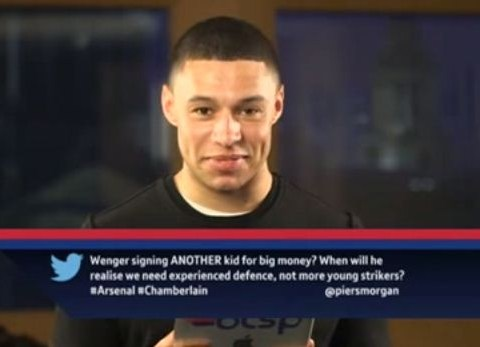 Zing! Arsenal star Alex Oxlade-Chamberlain responds to mean tweets