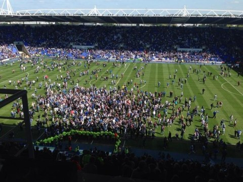Awkward! Reading fans invade pitch to celebrate play-off spot – before late Brighton goal snatches it away