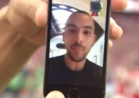 Arsenal stars FaceTime injured Theo Walcott on the Wembley pitch after FA Cup victory