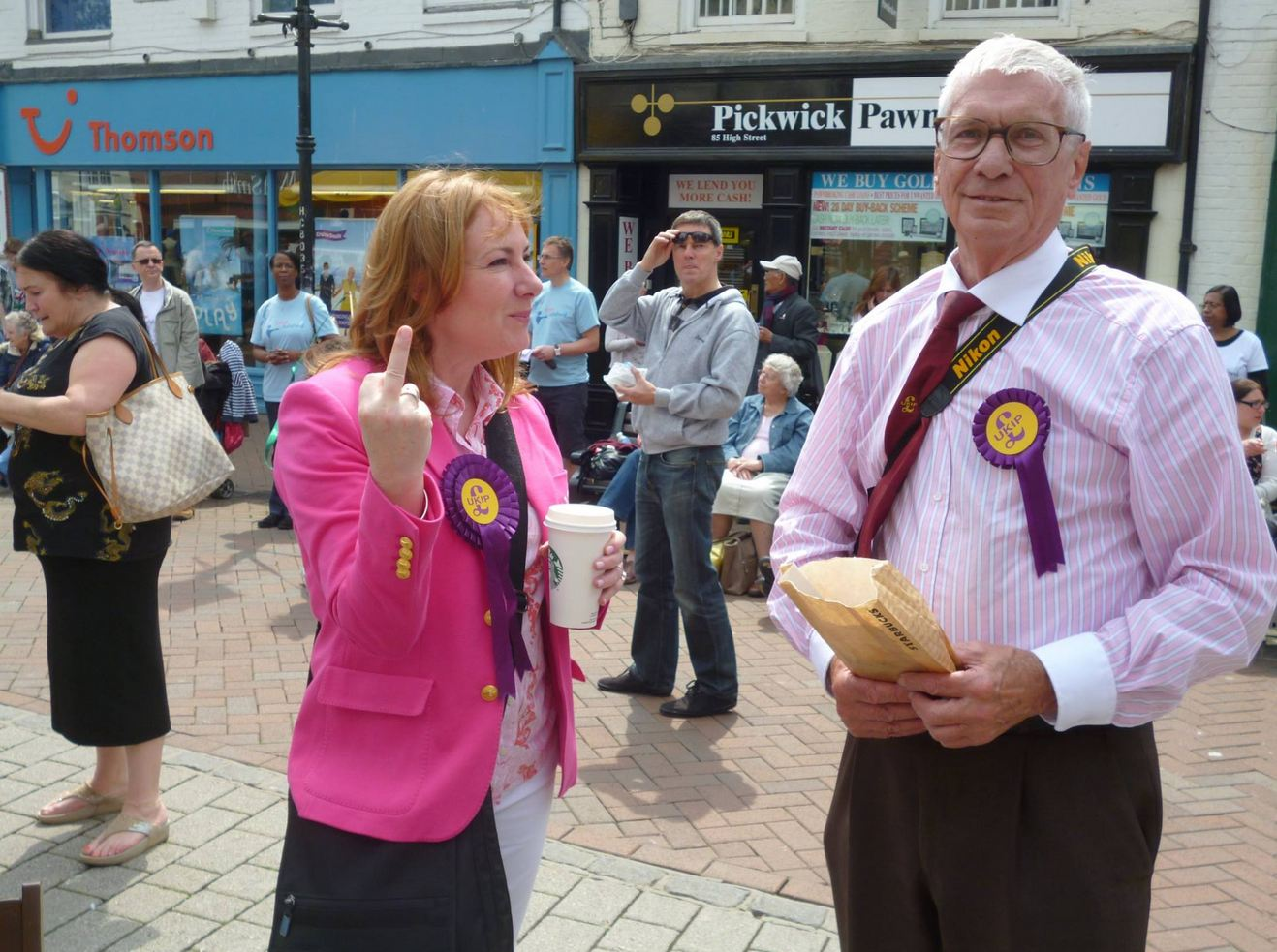 'I got angry but I don't regret it': Ukip candidate defends swearing at protesters