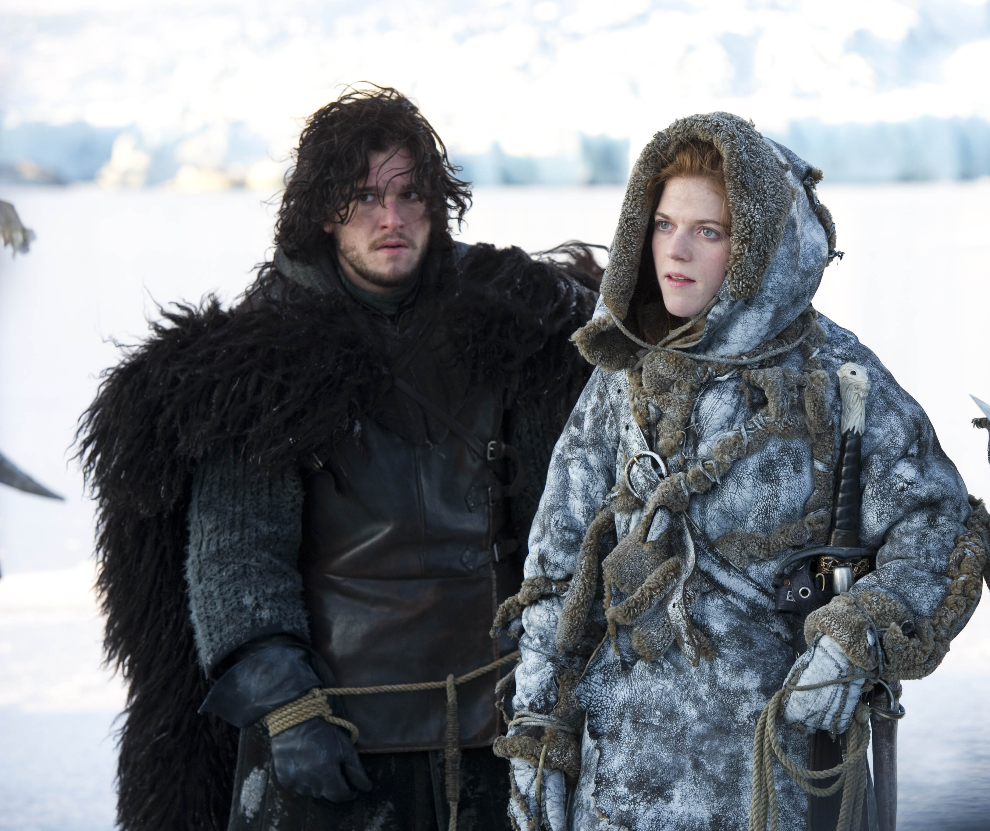 Jon and Ygritte shared an emotional scene in episode 9 (Picture: HBO)
