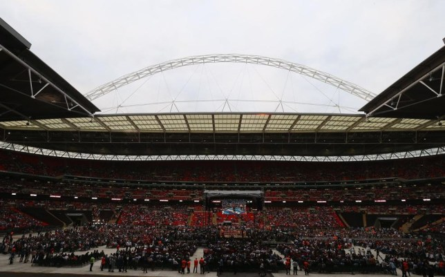 Wembley fills up for Saturday's boxing (Picture: Getty Images)