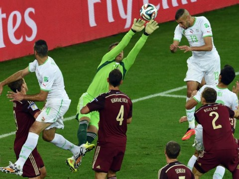 Russia goalkeeper Igor Akinfeev has another howler against Algeria