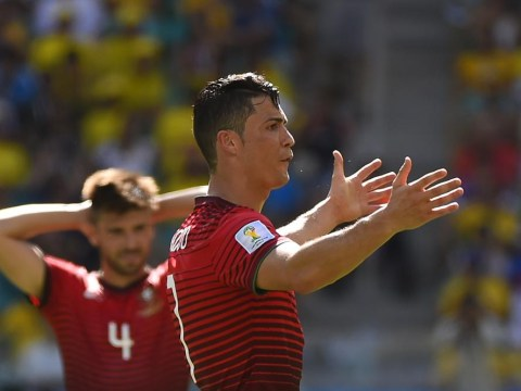 Cristiano Ronaldo left fuming after Portugal are denied a penalty against Germany