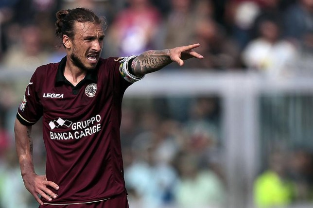 LIVORNO, ITALY - APRIL 13: Paulinho of AS Livorno Calcio gestures during the Serie A match between AS Livorno Calcio and AC Chievo Verona at Stadio Armando Picchi on April 13, 2014 in Livorno, Italy. Gabriele Maltinti/Getty Images