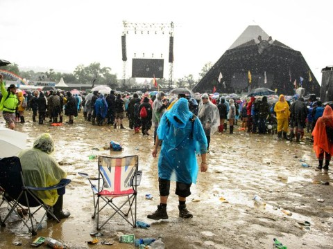 Eight mud-filled photos that will make you glad you're not at Glastonbury