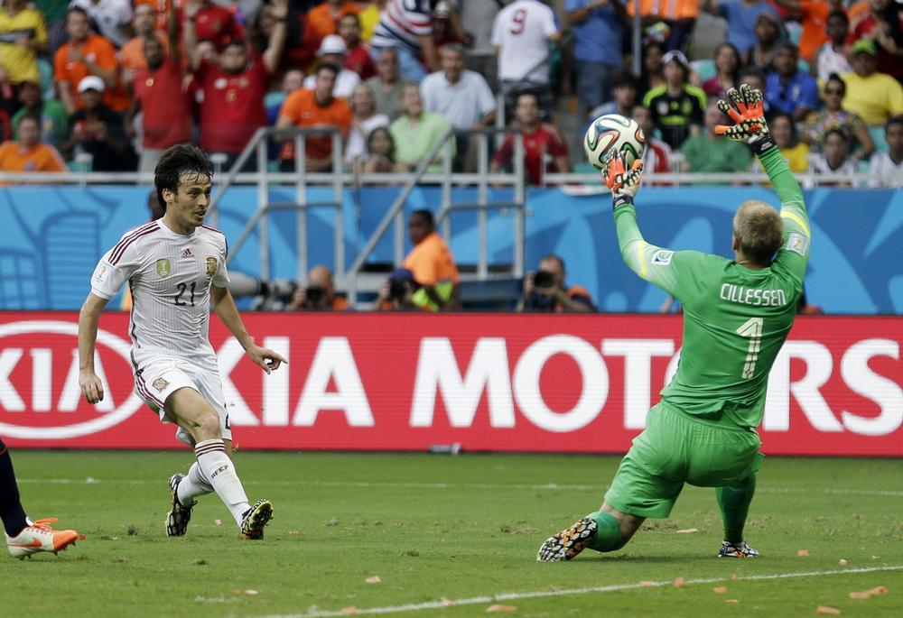Spain's David Silva needs to be clinical in front of goal against Chile