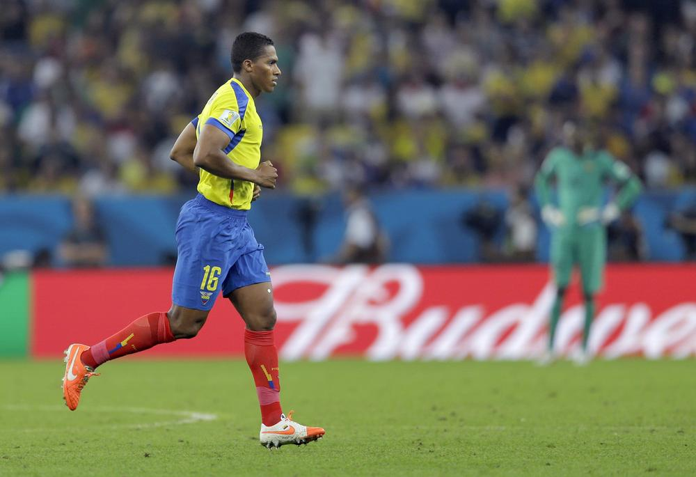 Antonio Valencia sees red again for Ecuador as Manchester United man crashes out of World Cup