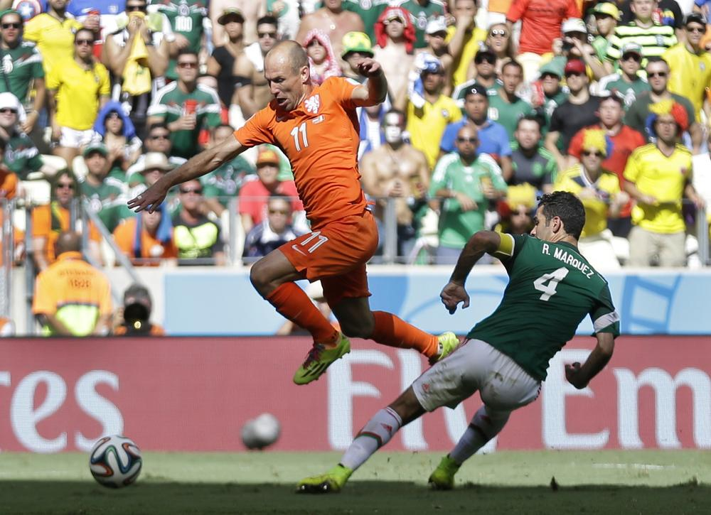 Arjen Robben to escape Fifa punishment – despite admitting diving during the Netherlands' World Cup win over Mexico