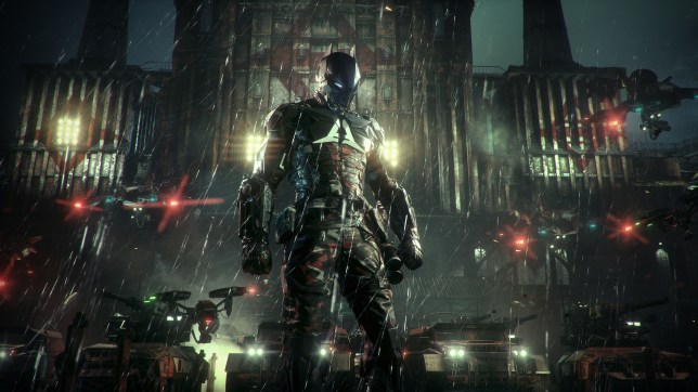 This is new character Arkham Knight, not Batman