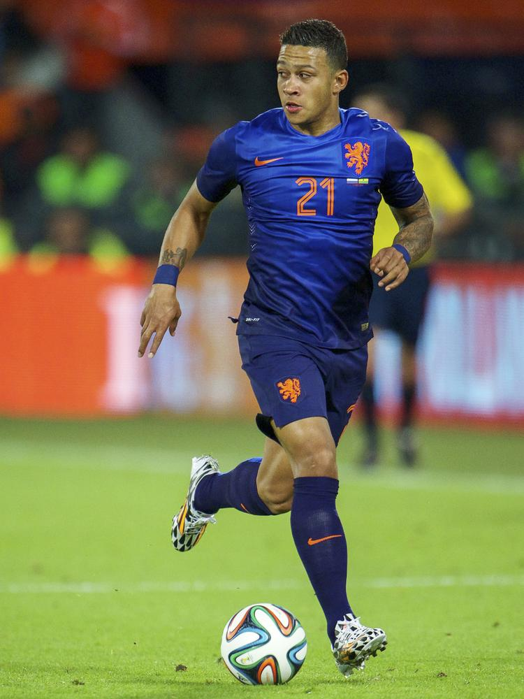 Memphis Depay of Holland during the International friendly match between The Netherlands and Ghana on May 31, 2014 at the Kuip stadium in Rotterdam, The Netherlands VI-Images/VI-Images via Getty Images