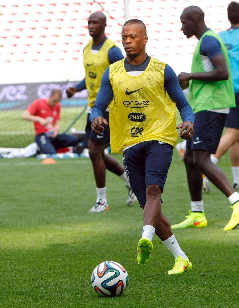 Manchester United's Patrice Evra playing an important part as France move forward