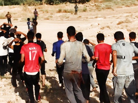 Forced into a ditch they had dug themselves, these are the latest victims in Iraq