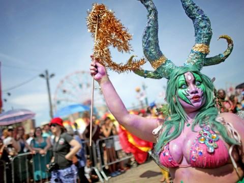 Mermaids and mermen at the Coney Island Mermaid Parade 2014