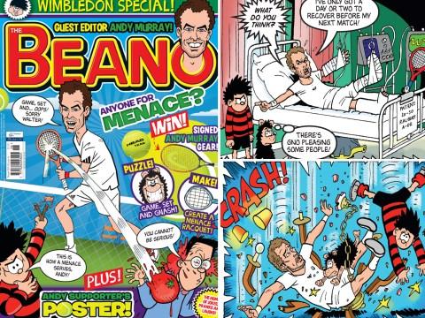 Andy Murray guest edits The Beano comic ahead of Wimbledon 2014