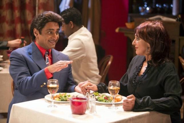 Television Programme: Goodness Gracious Me - 'Cheque Please'  Sanjeev Bhaskar, Meera Syal - (C) BBC - Photographer: Gary Moyes