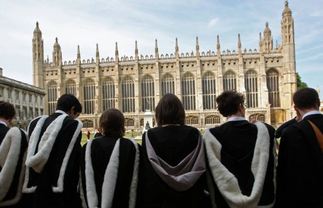 Mandatory Credit: Photo by Geoffrey Robinson/REX (1216254a).. Students on Graduation Day after passing their exams and being awarded a degree, Cambridge, England, Britain.. Graduation Day, Cambridge University, Cambridge, Britain - 06 Aug 2010.. ..