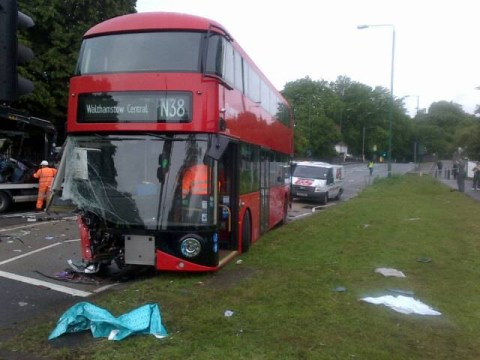 One dead and 13 injured in east London night bus crash