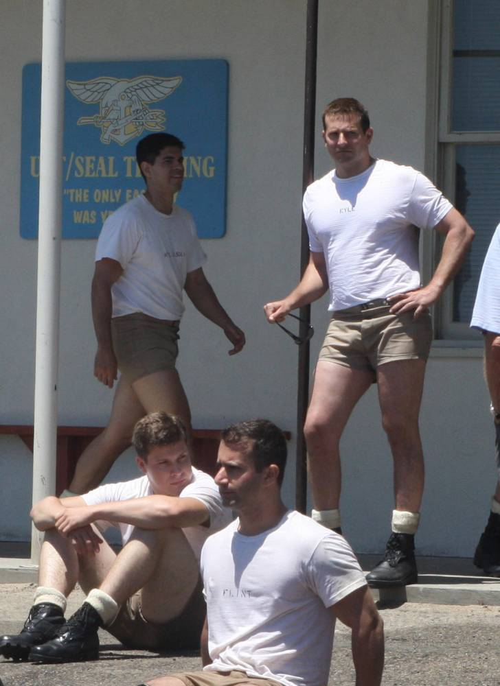 Just Bradley Cooper looking buff in really short shorts