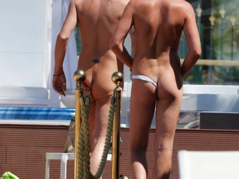 Avert your eyes: The TOWIE boys leave very little to the imagination in Marbs