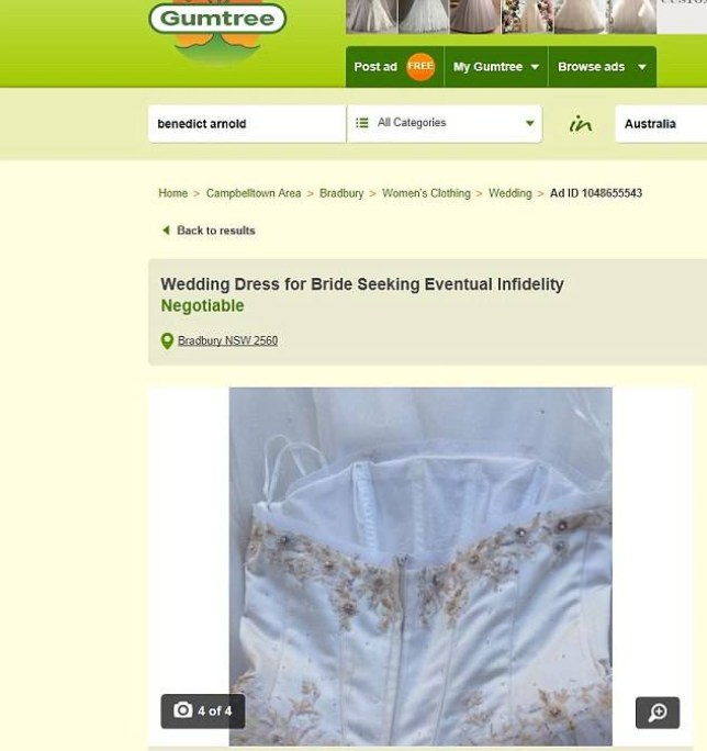 The hilarious Gumtree advert (Picture: Gumtree)