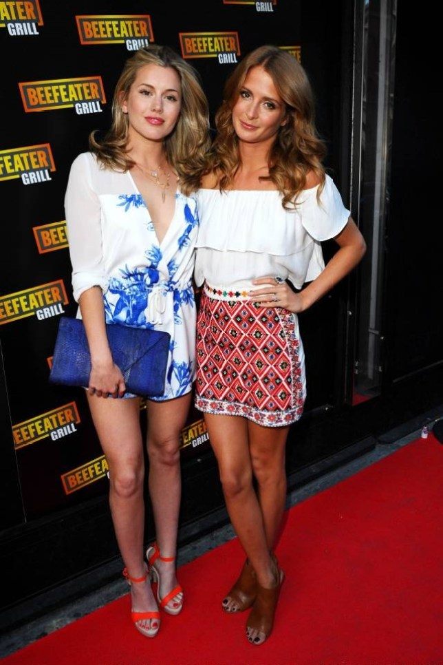 LONDON, ENGLAND - JUNE 10:  Former Made in Chelsea star Caggie Dunlop (L) and Millie Mackintosh attend the Beefeater Grill's 40th birthday bash - a celebration of 40 years of serving great steak at The Drury Club on June 10, 2014 in London, England.  (Photo by Anthony Harvey/Getty Images for Beefeater Grill)