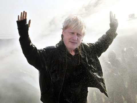 Boris Johnson agrees to be blasted by water cannon during live radio broadcast