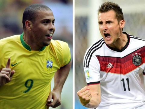 How Miroslav Klose's 15 World Cup goals compare to Ronaldo's