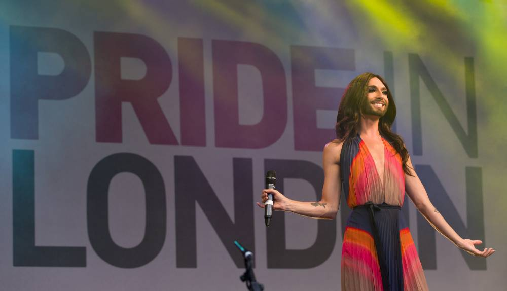 Eurovision winner Conchita Wurst wows the crowds at Pride London