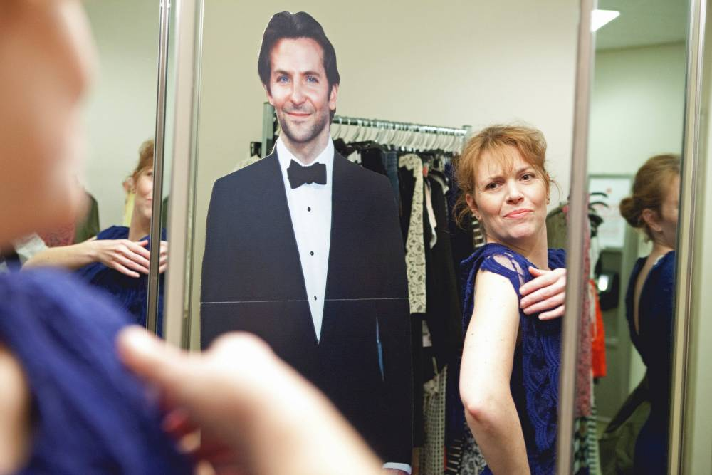 PICS BY MYLIFEWITHBRADLEYCOOPER / OCEAN BLEU / CATERS NEWS - (PIC: DANIELLE DAVIES WITH CARDBOARD CUTOUT OF BRADLEY COOPER) - SEE CATERS COPY
