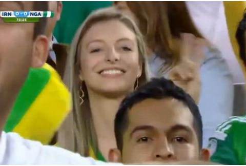World Cup 2014: Pervy cameraman zooms past weirdos to focus on stunning blonde fan
