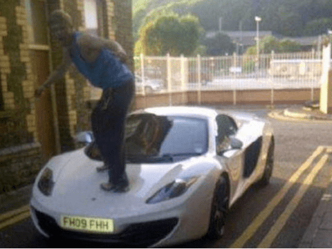 He auto know better: Idiot yob jumps up and down on new £250,000 sports car – then posts a picture of it on Facebook