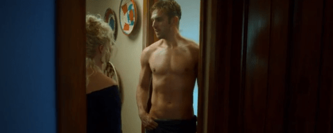 Topless Dan Stevens leaves Matthew Crawley of Downton Abbey behind in hot new trailer for The Guest