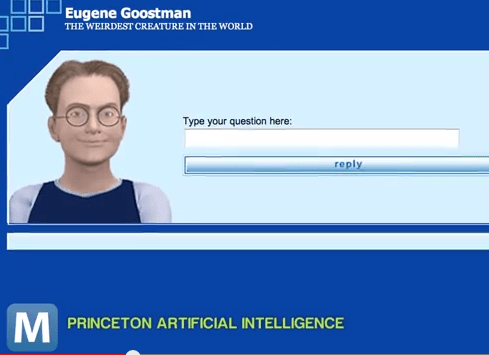 Sorry, Eugene: The chatbot didn't pass the test (Picture: YouTube)