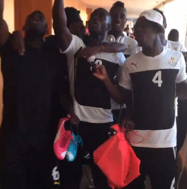 Singing and dancing Ghana players really don't seem too bothered by World Cup exit