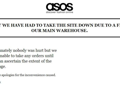 Asos website down after fire breaks out at Barnsley warehouse