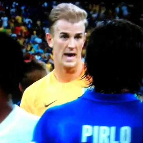 World Cup 2014: Joe Hart caught gushing to Andrea Pirlo over stunning free-kick