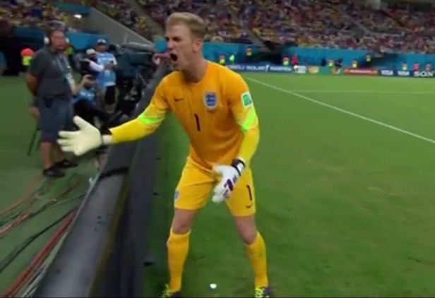 Joe Hart loses the plot with foul-mouthed tirade at slow ballboy during England's defeat to Italy