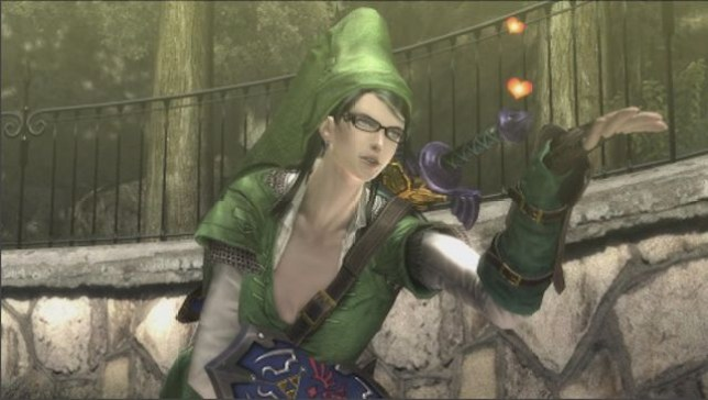 Bayonetta - Link's hat actually fits her hairdo