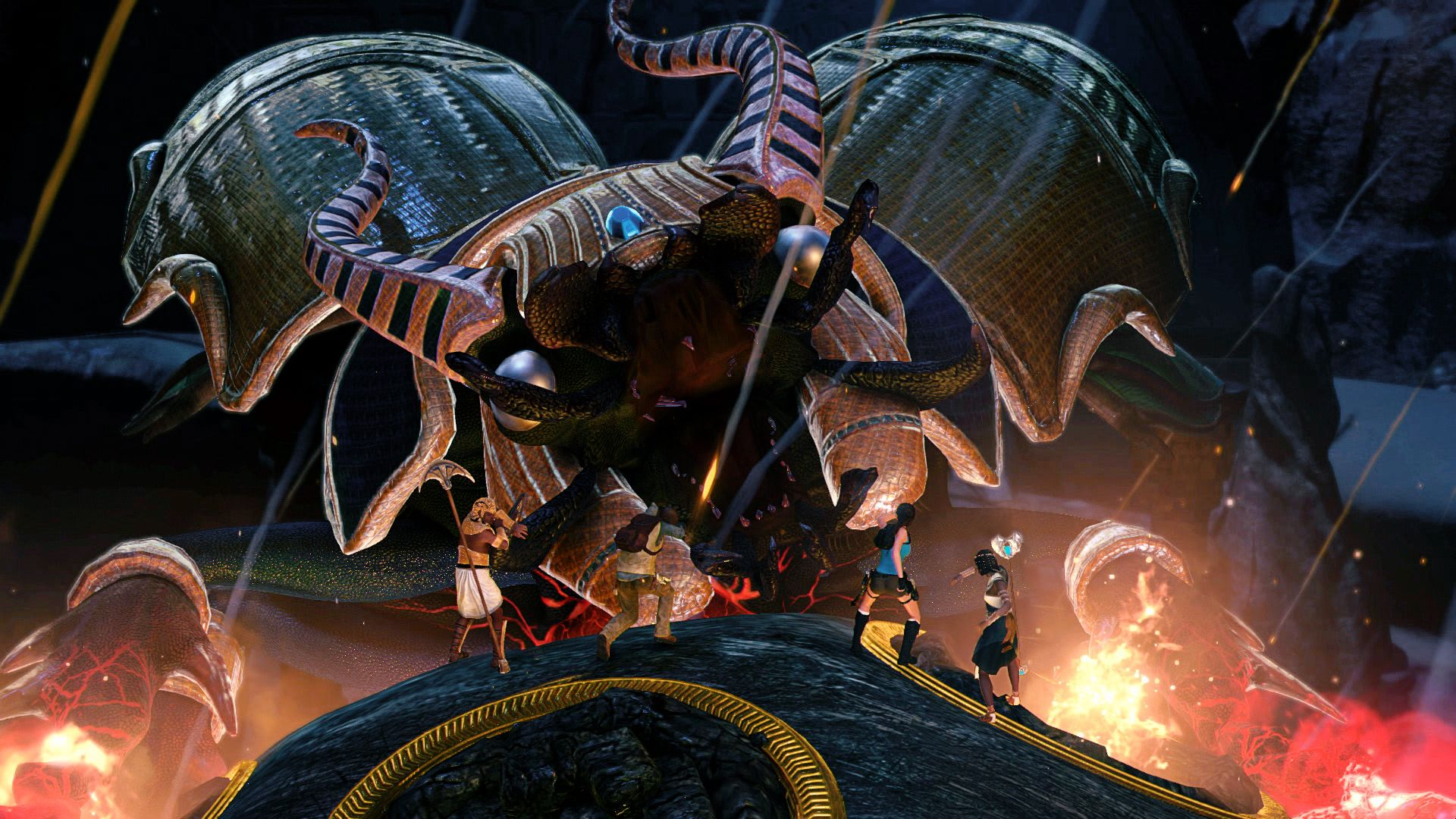 Lara Croft And The Temple Of Osiris - that's a big bug
