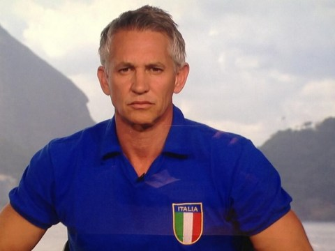 Impartial BBC? Gary Lineker presents crucial Costa Rica tie in an Italy shirt as England's hopes hang in the balance