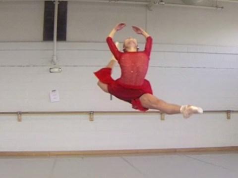 So ballet dancing in slow motion is impressive
