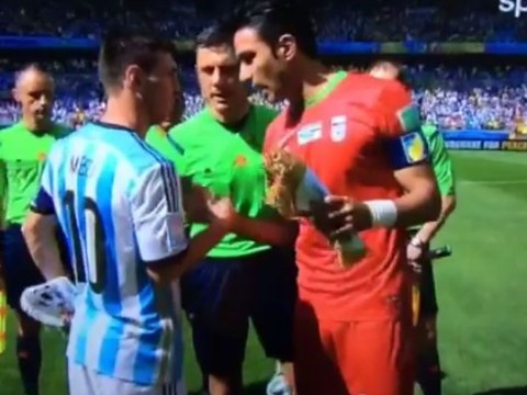 Watch Iran star Javad Nekounam ask for Lionel Messi's shirt BEFORE match
