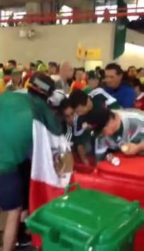 Mexico fans raid bin full of beers during World Cup 2014 win over Cameroon
