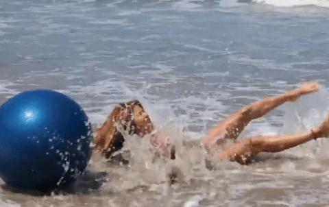 Bikini model cover shoot fails spectacularly