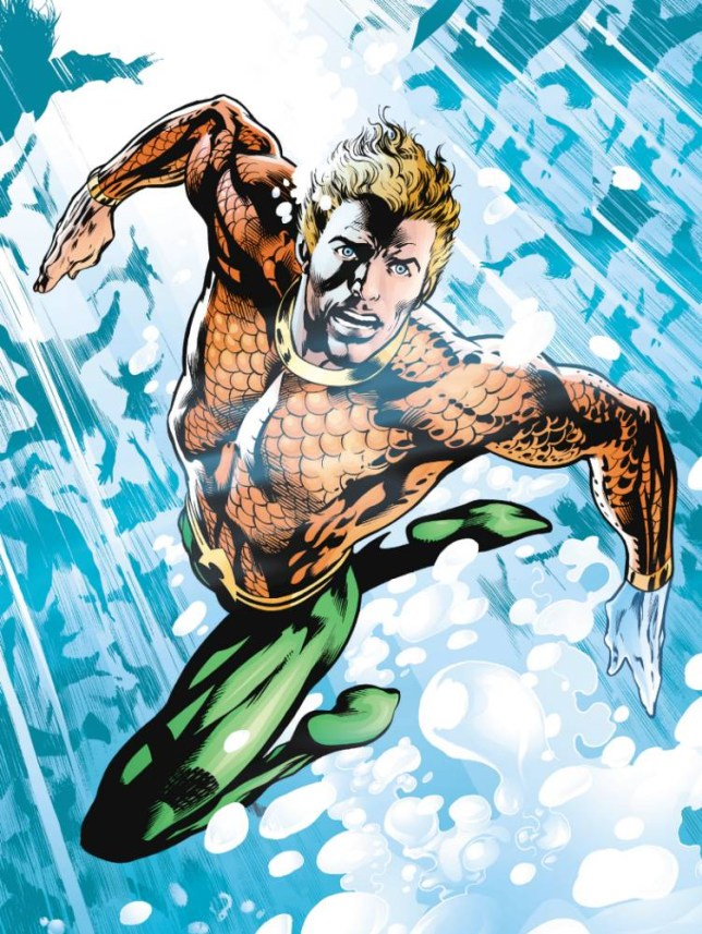 Aquaman, comic character.   free 2007 publicity picture for use in metro focus article 05/2007