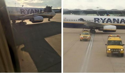 Hundreds delayed as Ryanair planes crash into each other